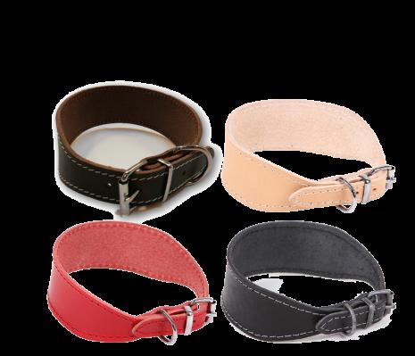 Wippethalsband i läder